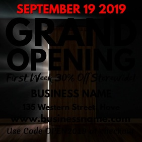 5850 customizable design templates for business announcement grand opening video template friedricerecipe Images