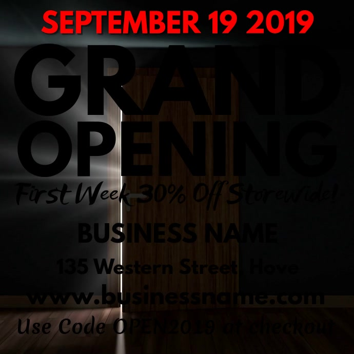 Grand Opening Video Template