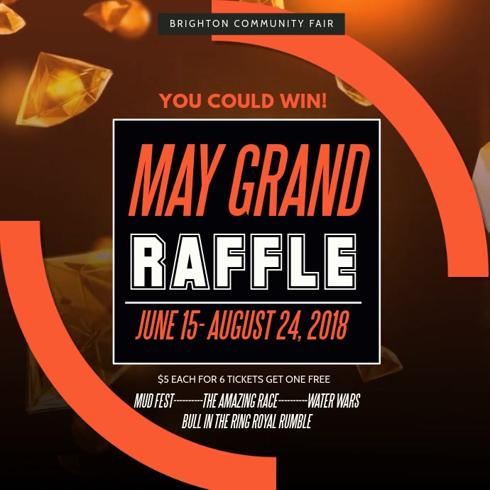 Grand Raffle Square Video Template