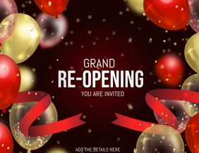 Grand re-opening ,Relaunch flyers