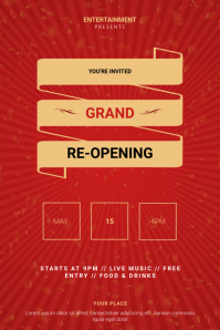 Grand Re-opening Flyer Template Poster