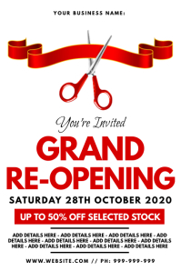 Grand Re-Opening Poster
