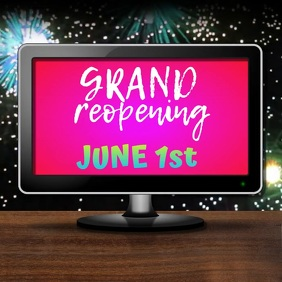 Grand Reopening Announcement Instagram