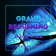 Grand Reopening Butterflys Video Square Ad