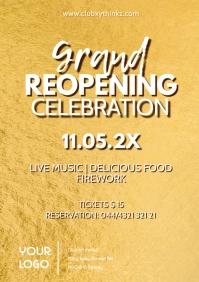 grand reopening celebration golden glam shine