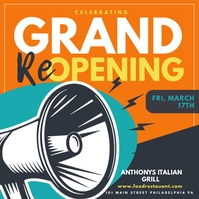 Grand Reopening Instagram Post template