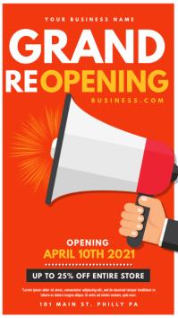 Grand Reopening Digital Display (9:16) template