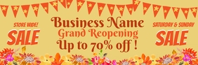 Grand Reopening Floral Sale Email Header