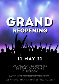Grand Reopening Flyer Poster Party Advert Eve