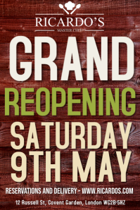 Grand Reopening Flyer Poster Template