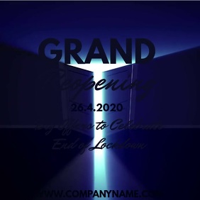 Grand Reopening Lockdown Digital Template