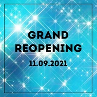 grand Reopening Opening advertisement sparkle