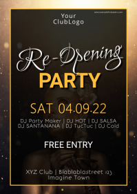 Grand Reopening Party event poster