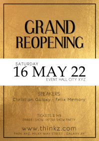 Grand Reopening Party Poster Gala Advert Even
