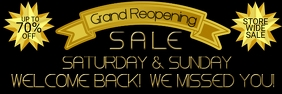GRAND REOPENING SALE 2'X6' BANNER template