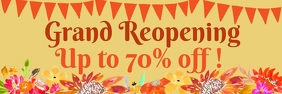 Grand ReOpening Sale 2'x6' Banner