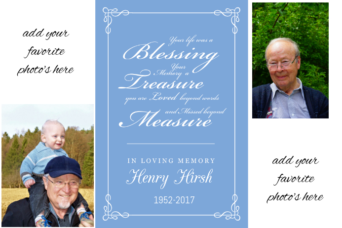Grandfather Funeral Photo Collage picture keepsake family