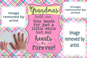 Grandma Gift Print Poster Poem Collage Little Girls