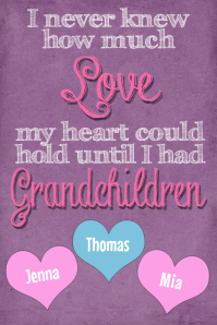 Grandma Grandchildren Personalized Gift Print Poster Family