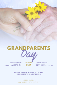 Grandparents Day Flyer Design Template