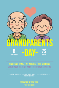 Grandparents Day Flyer Template