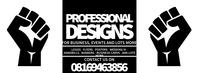 Graphic design advert template