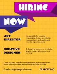 Customizable design templates for now hiring flyer postermywall graphic design internship flyer template saigontimesfo