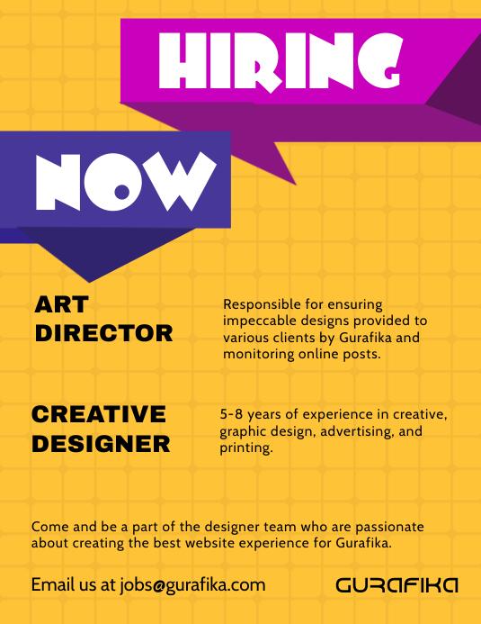 graphic design internship flyer template postermywall