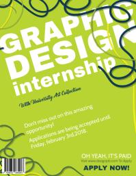 Graphic Design Internship Flyer Template