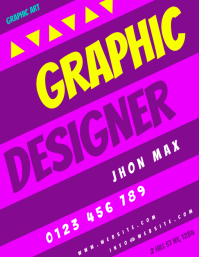 GRAPHIC DESIGNER FLYER TEMPLATE