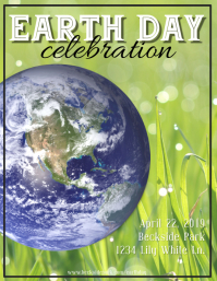 Grass Earth Day Flyer