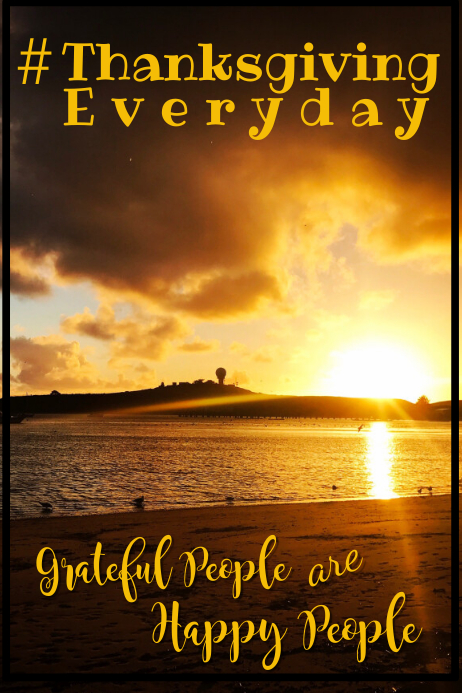 Grateful People Poster Template