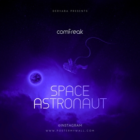 Gravity Space Astronaut CD Cover Template