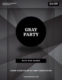 Gray Abstract Party Flyer Template