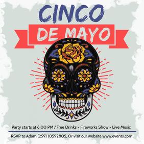 Gray Cinco de Mayo Fiesta Ad