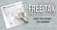 Gray Tax Expert Prep Services Изображение, которым поделились на Facebook template