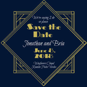 Great Gatsby Save the Date Instagram Post template
