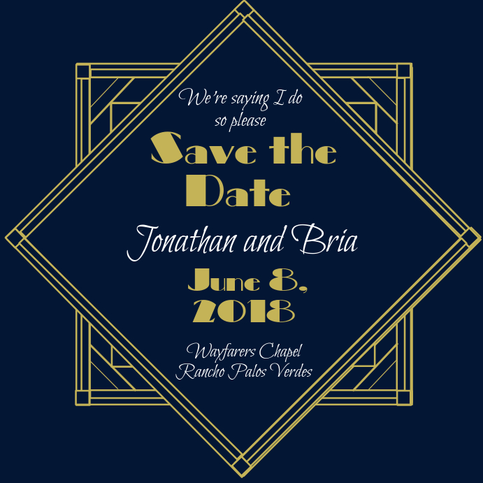 great gatsby save the date template postermywall