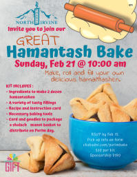 Great Hamantash Bake Flyer (US Letter) template