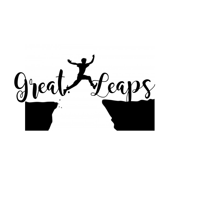Great leaps jump logo Logótipo template