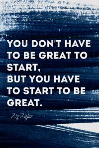 Greatness Ziglar quote poster Póster template