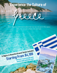 Greece Tour Travel Flyer Template