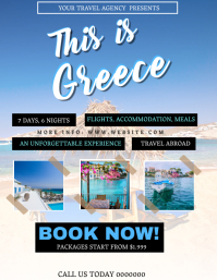 Greece Tour Travel Package Flyer Template
