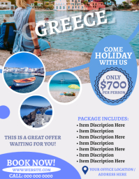 Greece Travel Agency Flyer Template