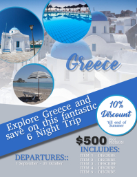 Greece Travel Flyer Template