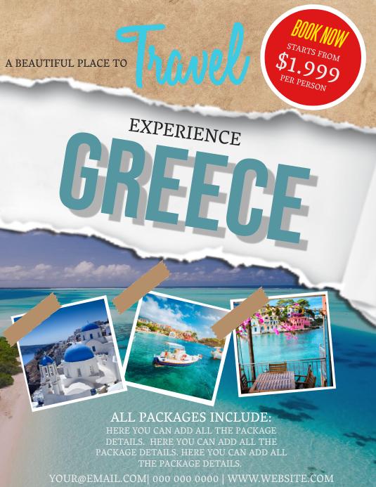 Greece Travel Flyer Template