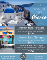 Greece Travel Poster Flyer Template