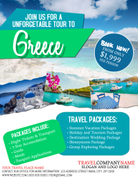Greece Travel Tour Flyer Template