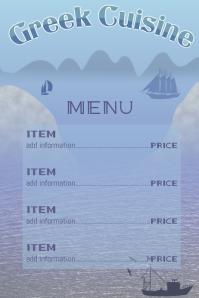greek menu fishing in the mediterranean sea