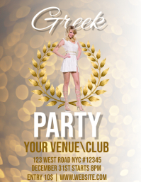 Greek Party event flyer